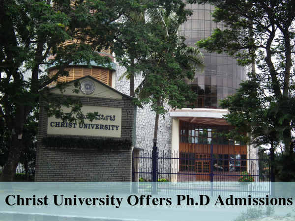 Christ University Offers Ph.D Admissions