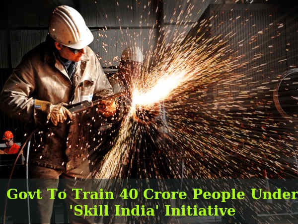 Govt To Train 40 Crore People Under 'Skill India'