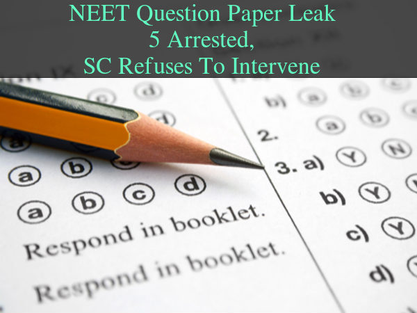 NEET Question Paper Leak Petition Withdrawn