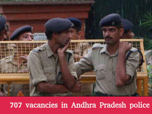 707 vacancies for sub-inspector and deputy jailer in Andhra Pradesh
