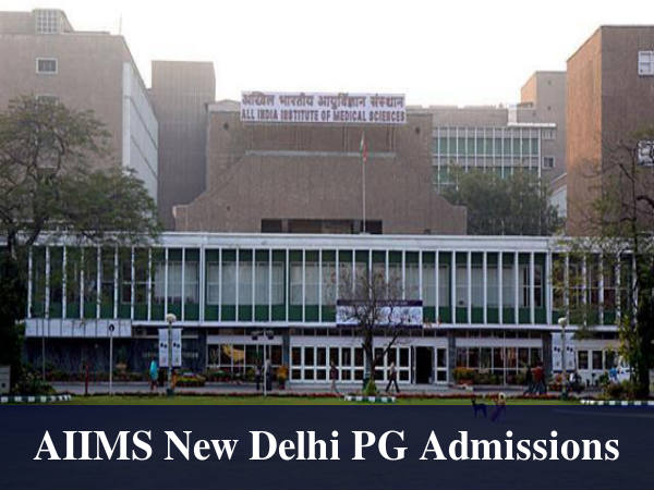 AIIMS New Delhi Invites Applications For PG Medical Courses