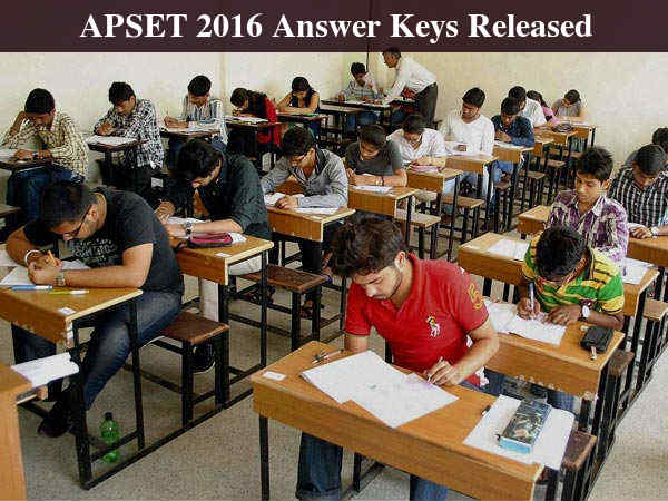 APSET 2016 Answer Keys Released, Sep 25 Last Date To File Objections
