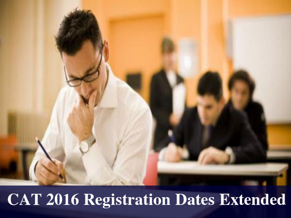 CAT 2016 Online Registration Dates Extended By 5 Days