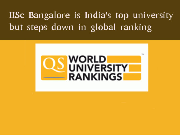 IISc Bangalore is India's best but not globally