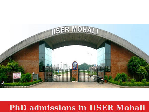 PhD admissions in IISER Mohali