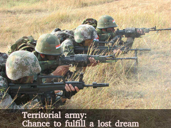 Territorial army: Chance to fulfill a lost dream
