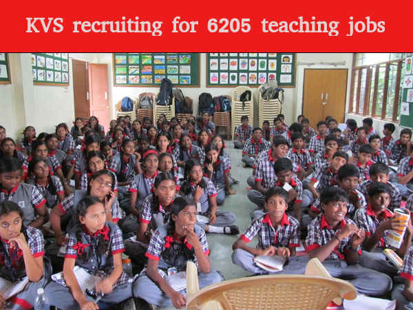 KVS recruiting for 6205 teacher posts
