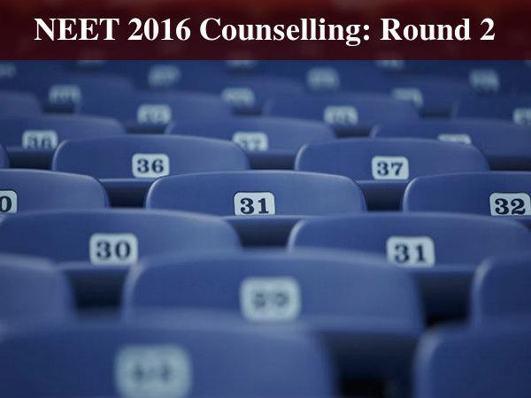NEET 2016 2nd Round Counselling