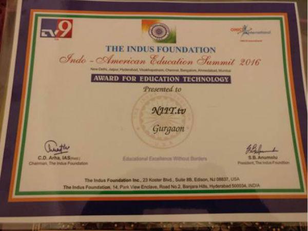 NIIT.tv wins 'Education Technology' award