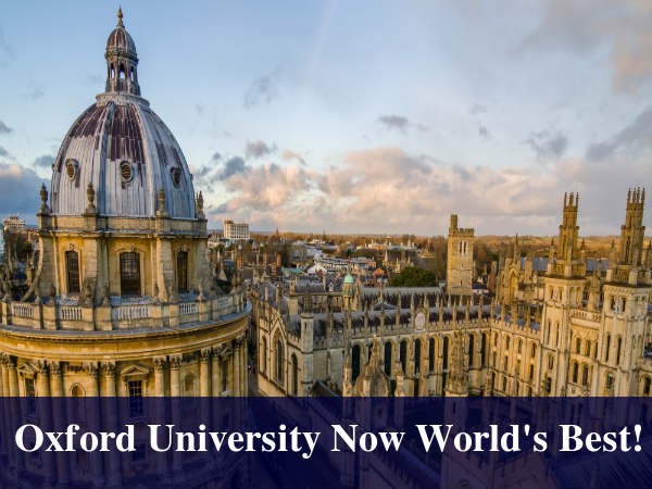 Oxford University Now World's Best! Knocks Down Caltech To 2nd Place