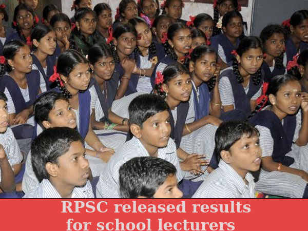RPSC releases result for school lecturers