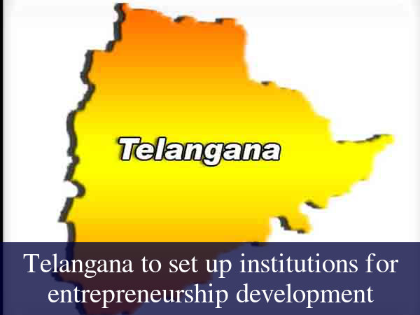 Telangana to set up institutions for entrepreneurship development