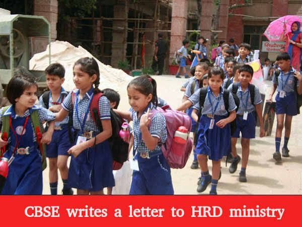 CBSE writes to HRD ministry about the burden of holding exams