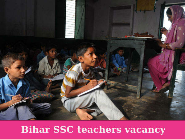 Bihar SSC recruiting primary teachers