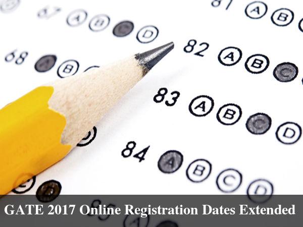 GATE 2017 Online Registration Dates Extended