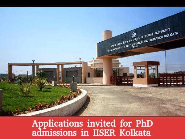 IISER kolkata PhD Programs: Applications invited