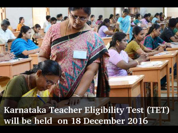 Karnataka Teacher Eligibility Test (TET) will be held in December