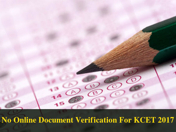 No Online Document Verification Process: KCET 2017