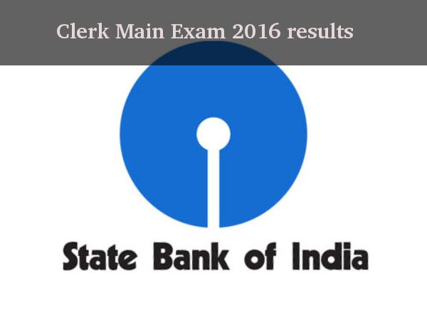 SBI Clerk Main Exam 2016 results