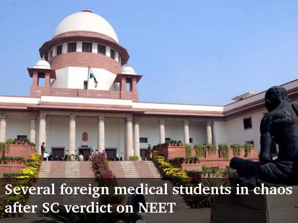 NEET trouble for several foreign medical students
