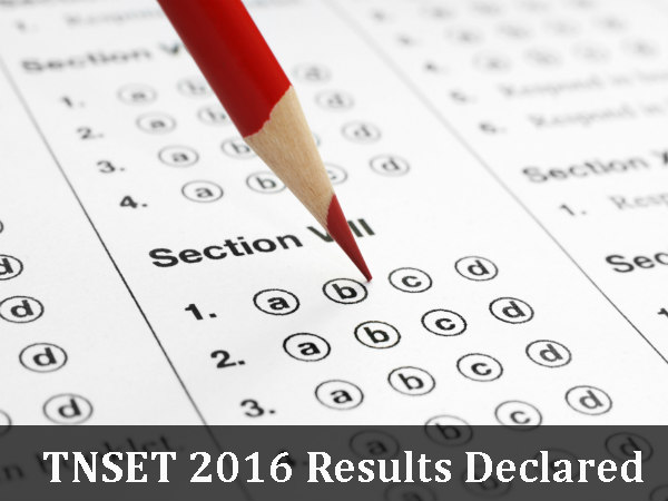 TNSET 2016:  Results Declared! View Your Results Here!