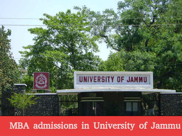 MBA admissions in University of Jammu