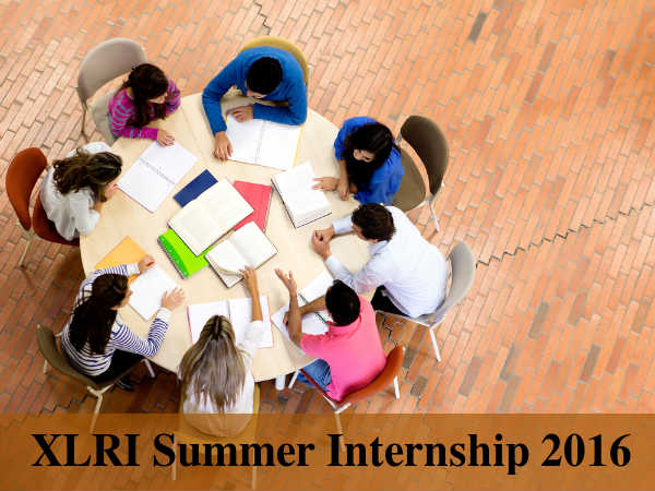 XLRI's Summer Internship 2016
