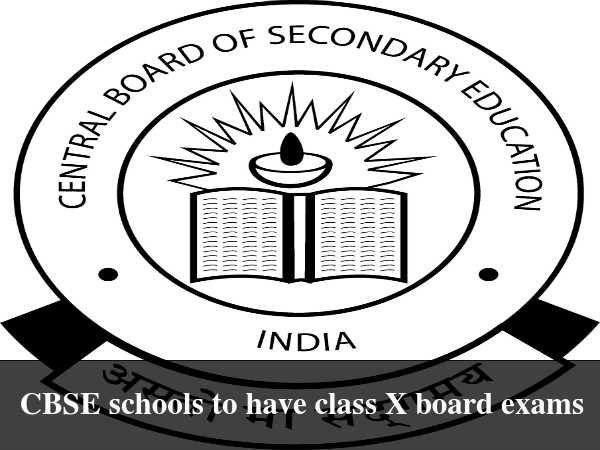 Class X Board Exams Mandatory for CBSE: HRD Min