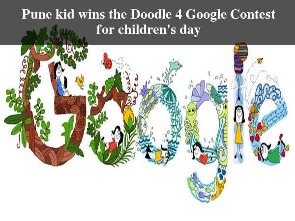 Pune kid wins the Doodle 4 Google Contest