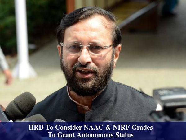 NAAC & NIRF Grades for autonomous status