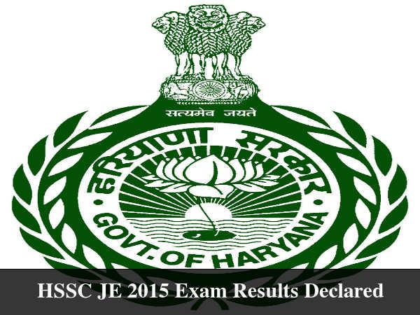 HSSC JE 2015 Exam Results Available Till December