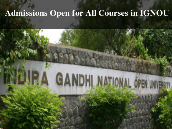Application for Courses in IGNOU Closes by 6 Dec