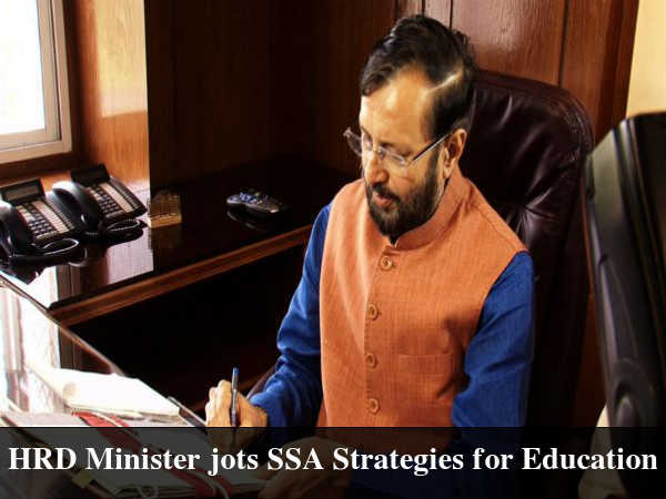 HRD Minister jots SSA Strategies for Education