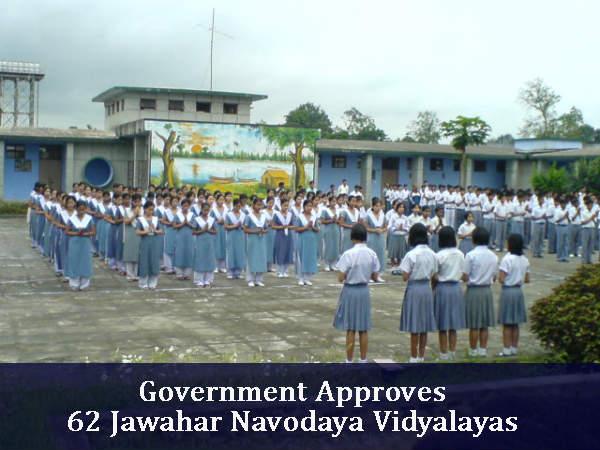 Government Approves 62 Jawahar Navodaya Vidyalayas