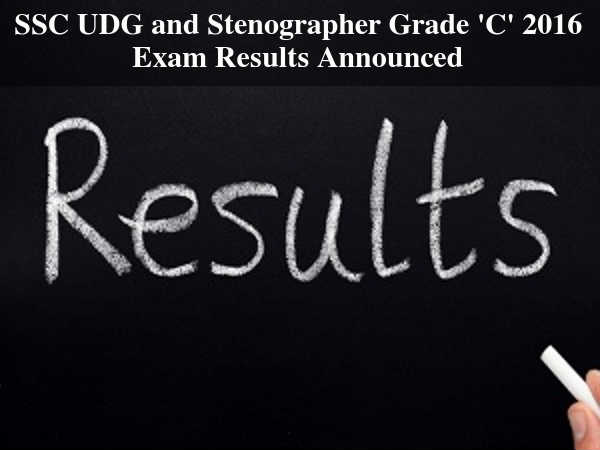 Results for Staff Selection Committee (SSC) Exam