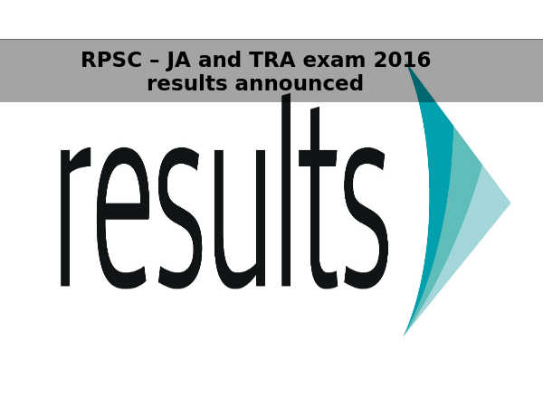 RPSC – JA and TRA next level exams coming soon
