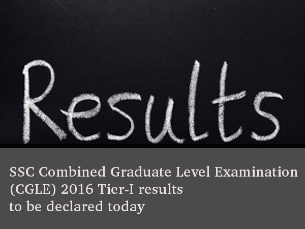 SSC CGLE Examination 2016 Tier-I Results