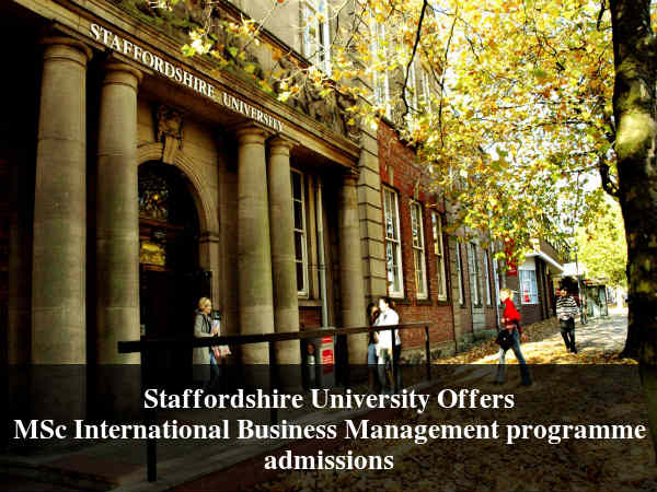 Staffordshire University, UK MSc Admissions