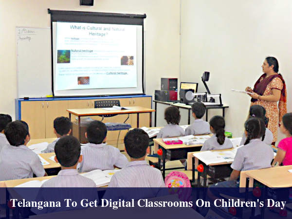 Telangana Launched Its Digital Classroom Programme
