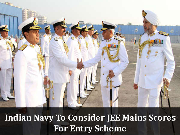 Indian Navy To Consider JEE Mains Scores For Entry