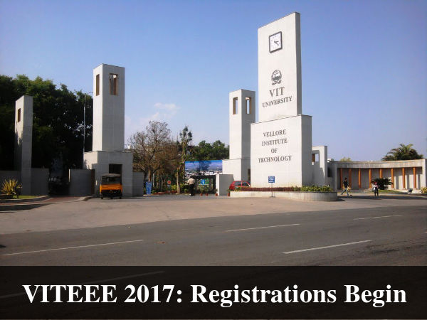 VITEEE 2017: Registrations Begin, Apply Now!