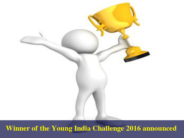 Winner of the Young India Challenge 2016