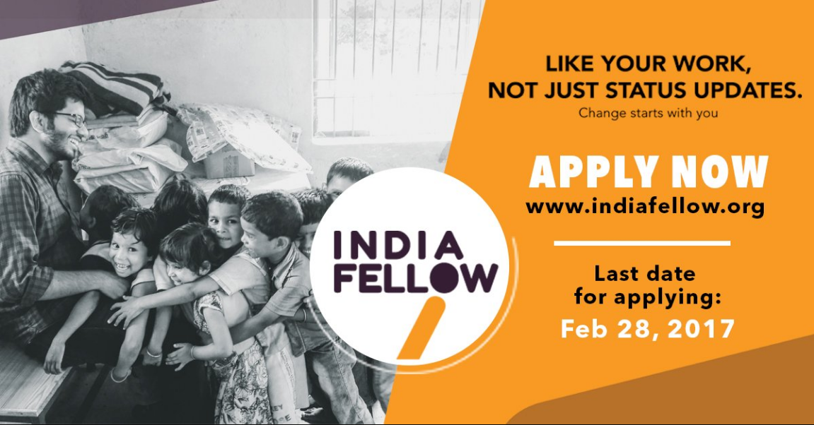 India fellow social leadership programme 2017-18