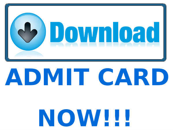 Admit cards released at the official website