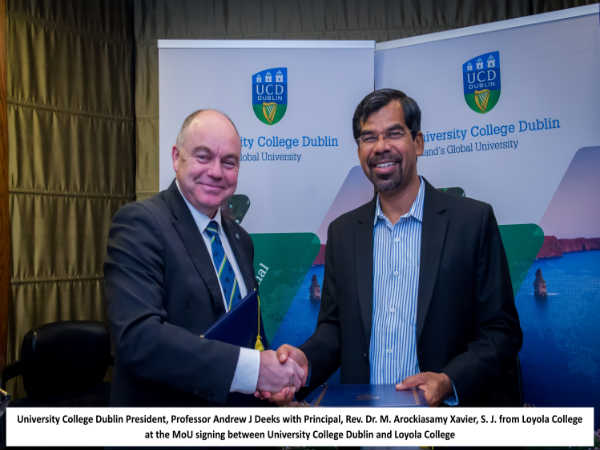 MoU between UCD and Loyola College Signed