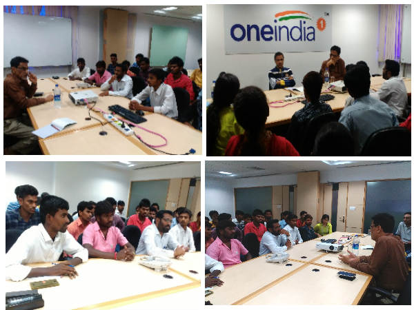 Students visit to Oneindia