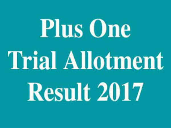 Kerala Plus One Allotment Released