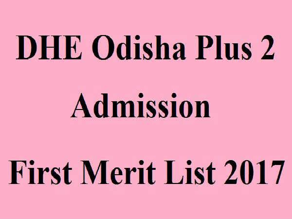 Odisha DHE Plus 2 Merit List Released