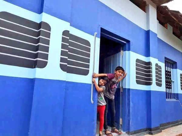 School Building Turns Train: Kerala Students Happy