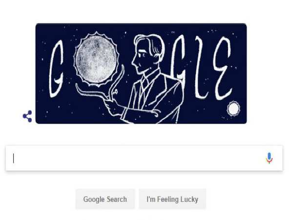 Google Honours S. Chandrasekhar on his Birthday